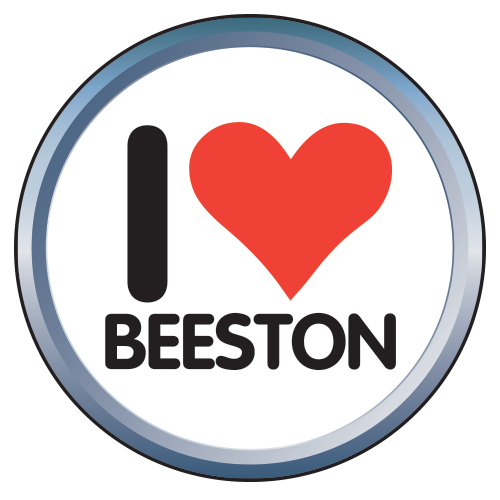 i love beeston badge