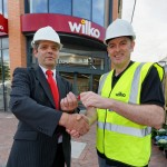 Wilko Store Manager, Jim Ellis, has been handed the keys to the new store by Wilko Estates Implementation Manager, Andy Moore